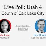 Midterm Election Poll: Utah's 4th District, Love vs. McAdams