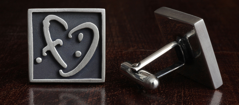 Heart of Square French Cufflinks, a perfect Father's Day Gift