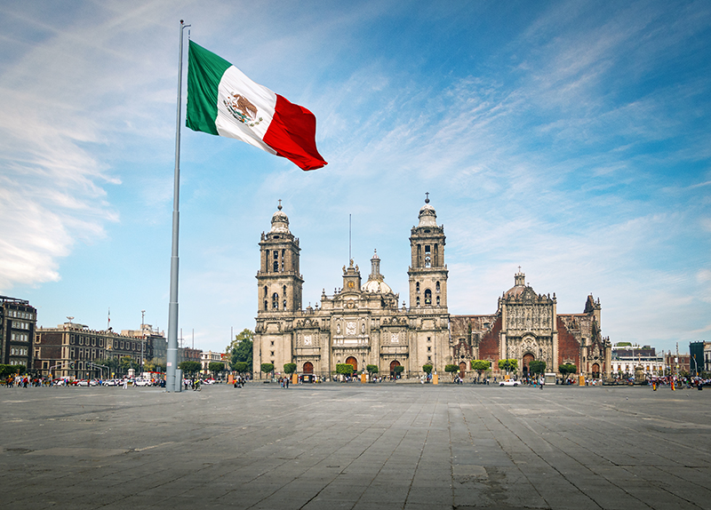 Zocalo Square and Mexico City Cathedral - Mexico City, Mexico
