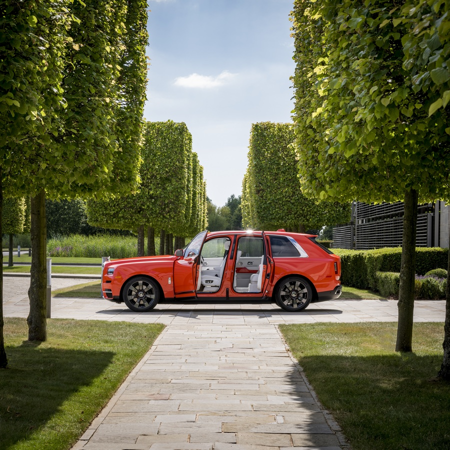 "Rolls-Royce Motor Cars debuts their ""Cullinan in Fux Orange"" at The Quail"