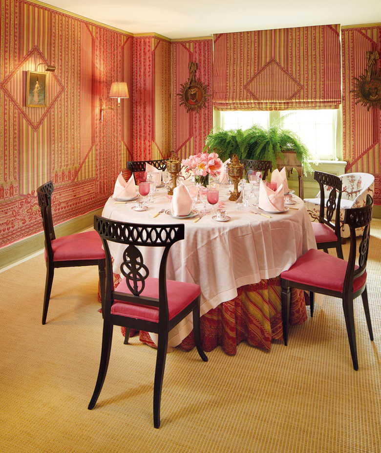 The dining room at Lee Bouvier Radziwill's home in New York. christies