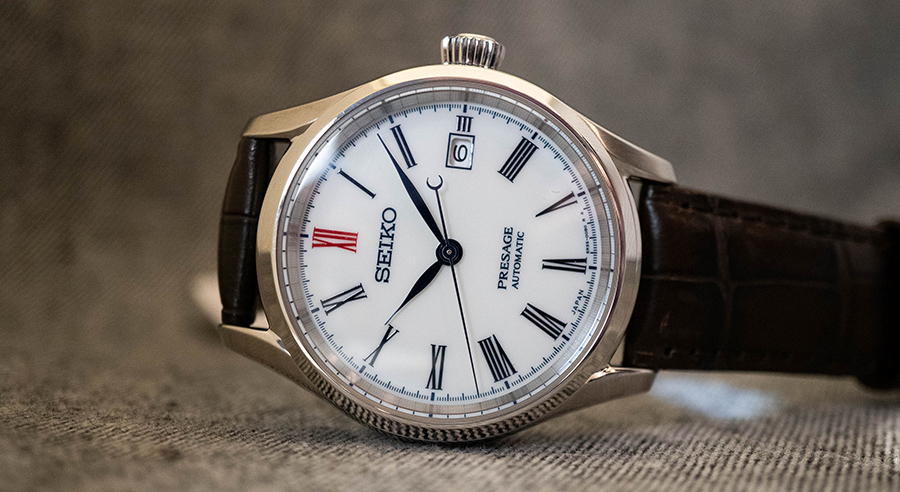 Seiko Presage Line Arita Porcelain Dial men watch