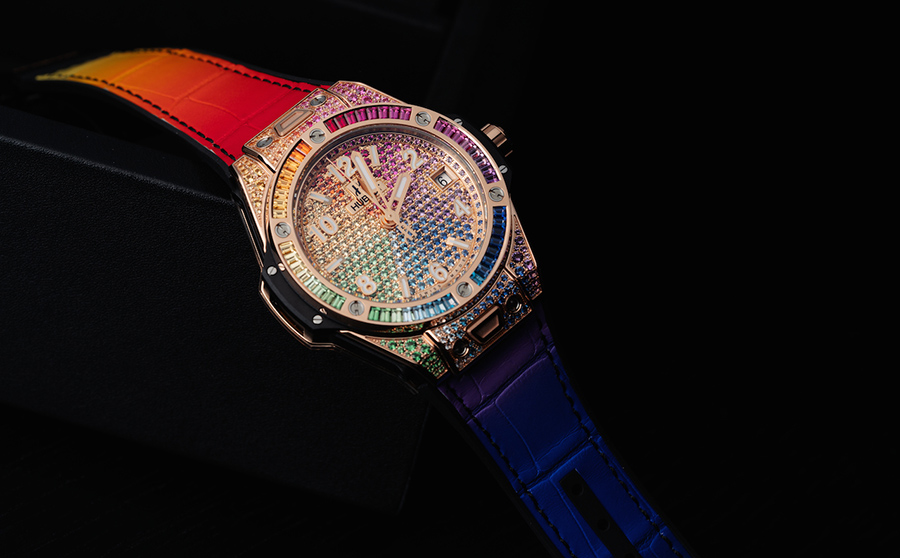 Hublot Big Bang One Click Rainbow women watch