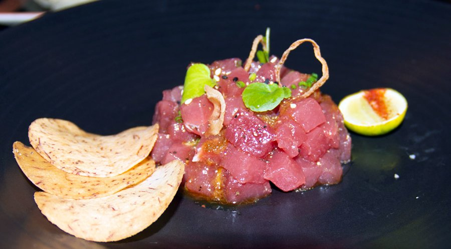 Poke at L & T steakhouse, The Betsy Hotel South Beach Florida