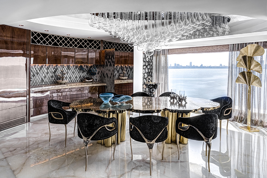 luxury apartment with spectacular view of the famed Mumbai Queens Necklace coast designed by ZZ Architects firm