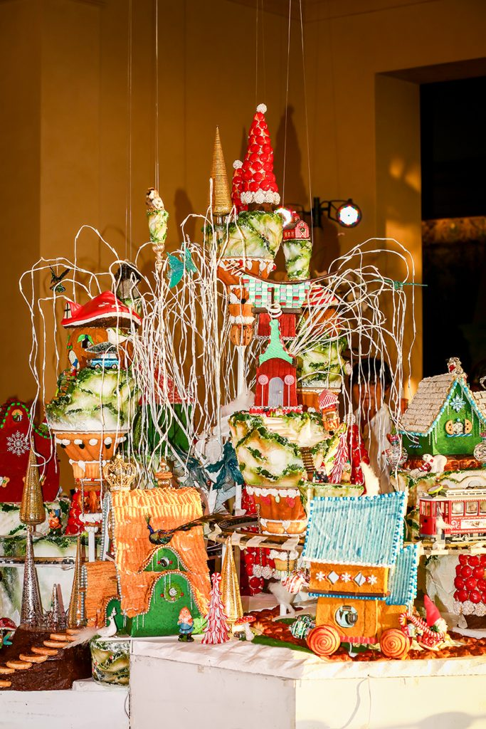 Extravagant 8-foot Tall Gingerbread Village at Pelican Hill