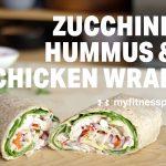 Zucchini, Hummus & Chicken Wrap