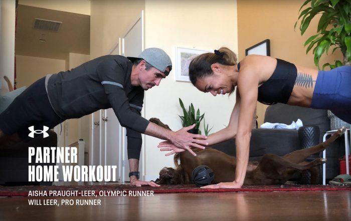 Partner Bodyweight Workout with Pro Runners