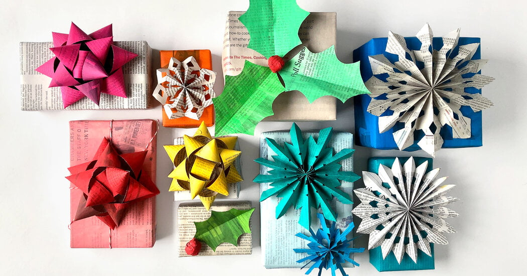 Wrap Gifts With Newspaper