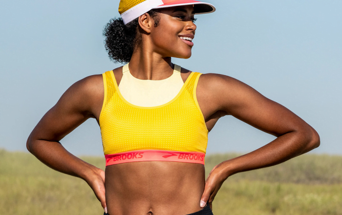 The Latest Brooks Running Bras Come With a Colorful Spring Upgrade