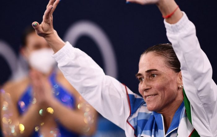 Gymnast Oksana Chusovitina Vaults to Standing Ovation in 8th-and-Final Olympic Games